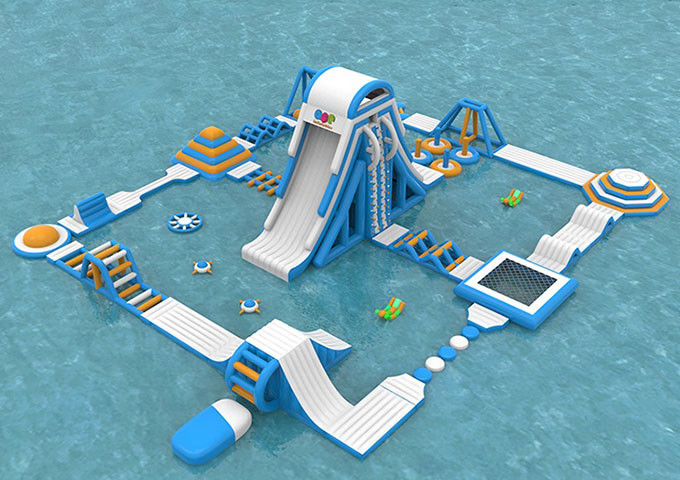 Sea Inflatable Floating Water Park , Giant  Adult Inflatable Water Splash Park Equipment